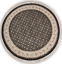 Load image into Gallery viewer, The Rugs Cafe Carpets Black / 5x5 Herati Round Rug