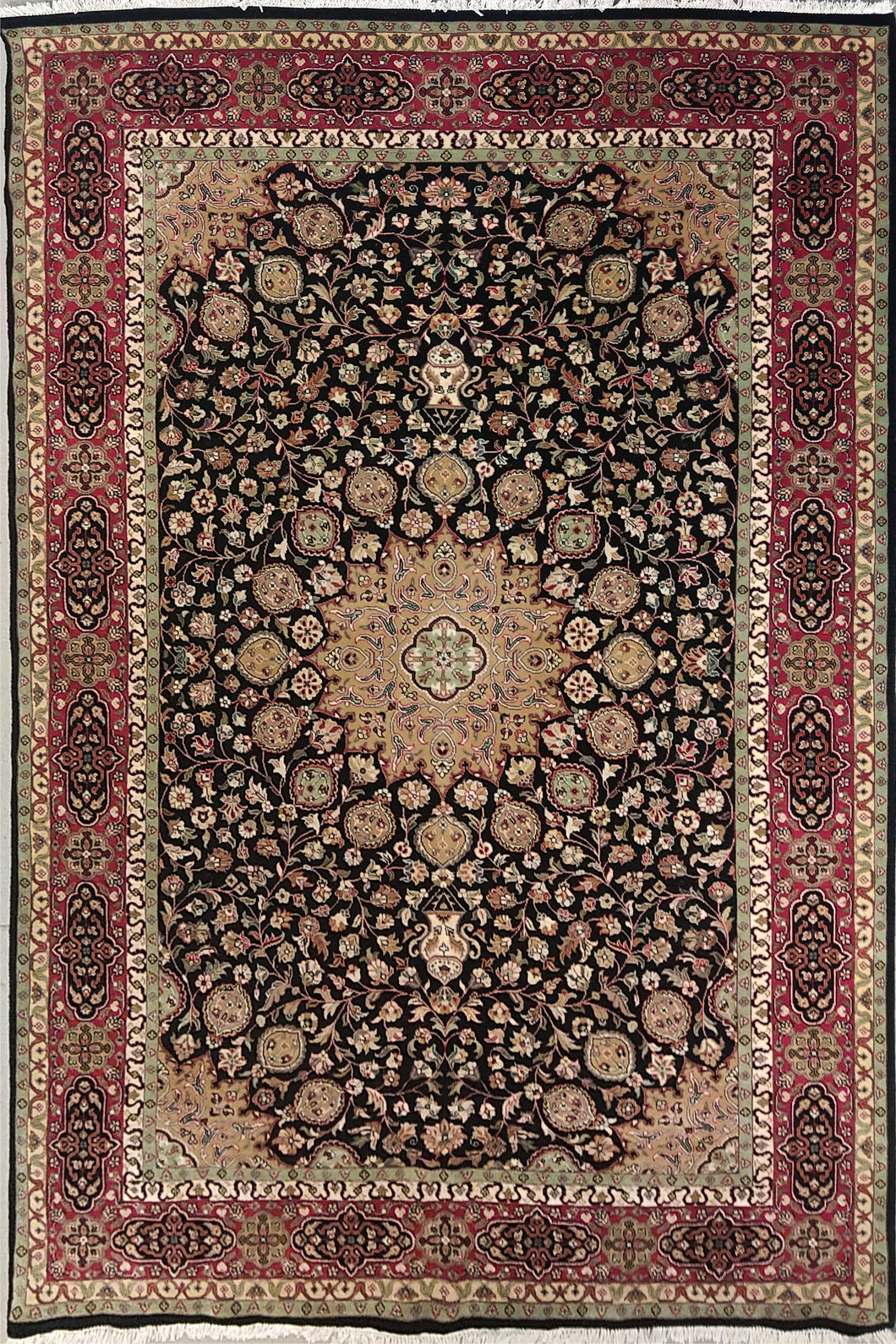 The Rugs Cafe Carpets Black / 5x7 Ardabil