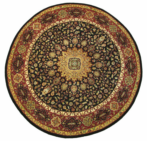 The Rugs Cafe Carpets Black / 6x6 Ardabil Black Round Rug