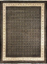 Load image into Gallery viewer, The Rugs Cafe Carpets Black / 7.5x10 Herati Design Carpet(Black)