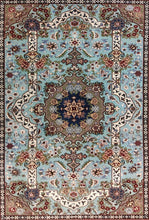 Load image into Gallery viewer, The Rugs Cafe Carpets Blue / 6x9 Charbagh (Four Gardens) Design Carpet: Premium Area Rug (Blue) 6 x 9 ft