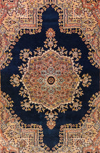 Load image into Gallery viewer, The Rugs Cafe Carpets Dark Blue / 4x6 Kerman Design Traditional Rug - Dark Blue