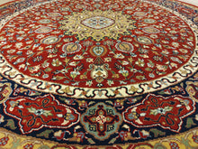 Load image into Gallery viewer, The Rugs Cafe Carpets Red / 5x5 Ardabil Red Round Rug