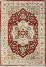 Load image into Gallery viewer, The Rugs Cafe Carpets Red / 6x9 Charbagh (Four Gardens) Design Carpet: Premium Area Rug (Red) 6 x 9 ft