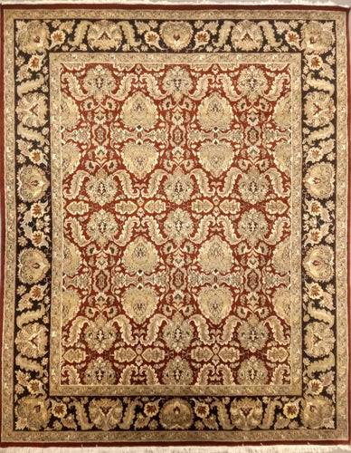 The Rugs Cafe Carpets Red / 8x10 All Over Design Carpet [Premium Quality]: Symmetric Hand-Knotted Area Rug Red 8 x 10