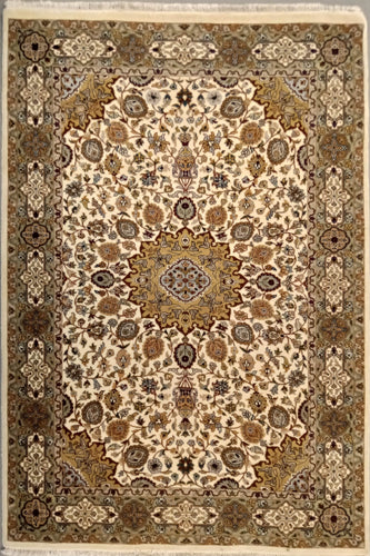 The Rugs Cafe Carpets White / 4x6 Ardabil White Area Rug