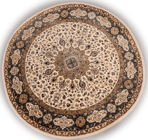 The Rugs Cafe Carpets White / 5x5 Ardabil White Round Rug