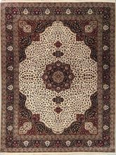 Load image into Gallery viewer, The Rugs Cafe Carpets White / 9x12 Charbagh (Four Gardens) Design Carpet: Premium Area Rug (White) 9 x 12 ft