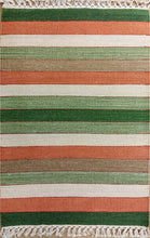 Load image into Gallery viewer, The Rugs Cafe Dhurries 2x3 / Multi Contemporary Linear Stripes Design Quality Rug - Multi Colored Handwoven Rug