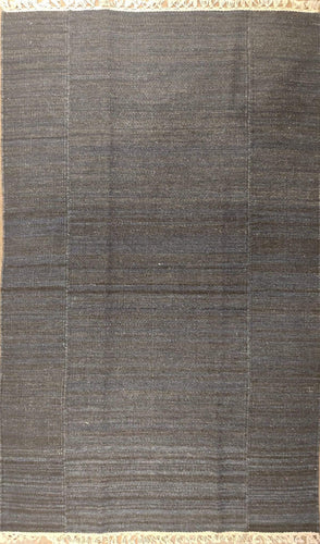 The Rugs Cafe Dhurries 3 x 5 / Rustic Phoenix Striped Wool Rustic Dhurrie Rug [Handwoven]