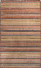 Load image into Gallery viewer, The Rugs Cafe Dhurries 3x5 / Multi Colorful Stripe Hooked Indoor Outdoor Rug [Handmade]