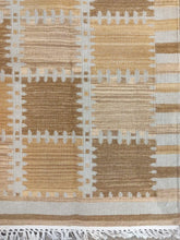 Load image into Gallery viewer, The Rugs Cafe Dhurries 4.2x6.3 / Multi Regular Patterned Patchwork Handwoven Dhurrie Rug