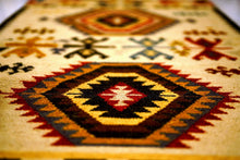 Load image into Gallery viewer, The Rugs Cafe Dhurries 4 x 6 / Multi Hand Made Wool Persian Tribal Rug with Geometric Pattern [Handmade]