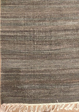 Load image into Gallery viewer, The Rugs Cafe Dhurries 5.4x7.6 / Grey Phoenix Wool Rustic Dhurrie Rug [Handwoven]