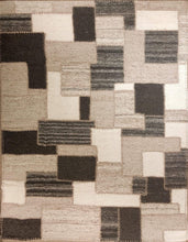 Load image into Gallery viewer, The Rugs Cafe Dhurries 6.3x8.10 / Multi Irregular Patterned Patchwork Handwoven Dhurrie Rug