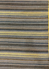 Load image into Gallery viewer, The Rugs Cafe Dhurries 7x9 / Rustic Blue Coastal Linear Stripe Rustic Blue Rug [Handmade]