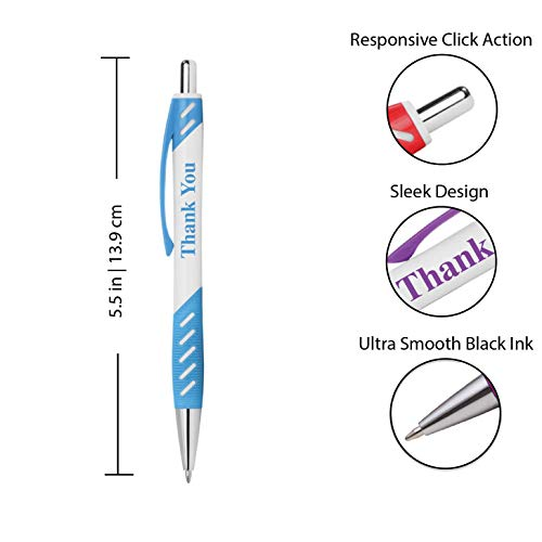"""Thank You"" Gift Pens with gripper for Events, Parties, Employee Appreciation & More"