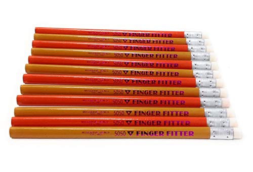 Finger Fitter Jumbo Triangle Grip Pencil Medium Soft Core, Yellow and Orange