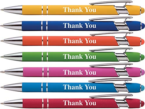 """Thank You"" Premium Gift Stylus Pens For All TouchScreen Devices - Metal Soft Touch - 2 in 1 Combo Pen for Events, Parties, Employee Appreciation & More"