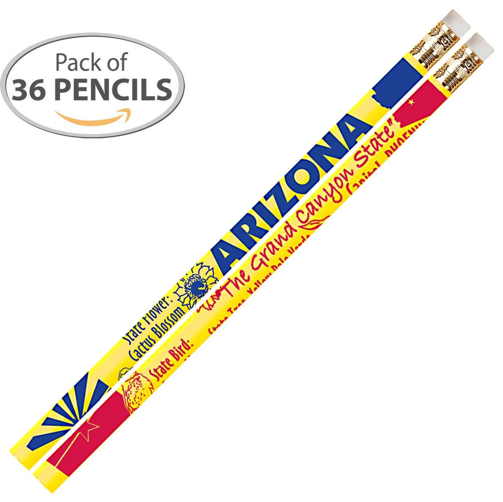 D2386 Arizona - 36 Qty Package - Arizona State Quick Facts Pencils - Express Pencils