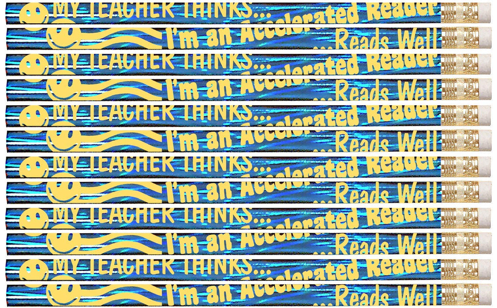 D2364 My Teacher Thinks Accelerated Reader - 36 Qty Package - Reading Award Pencils - Express Pencils