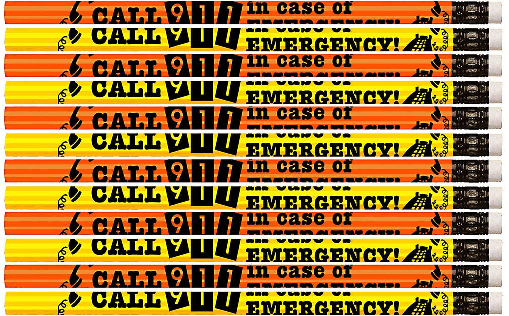 D2010 Call 911 In Case Of Emergency - 36 Qty Package - Call 911 Pencils - Express Pencils