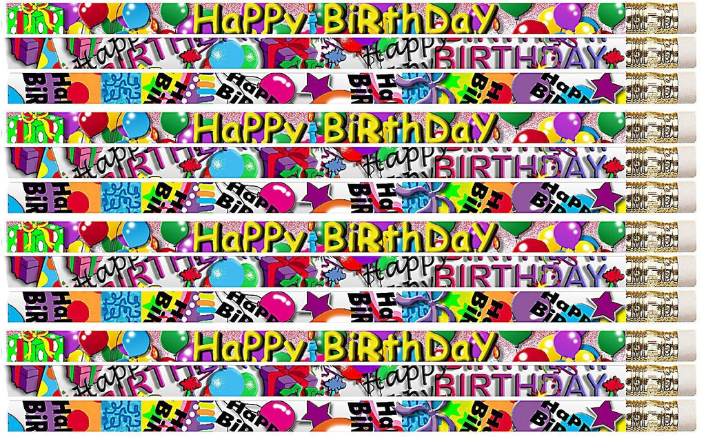 D1355 Birthday Supreme - 36 Qty Package - Happy Birthday Pencils - Express Pencils