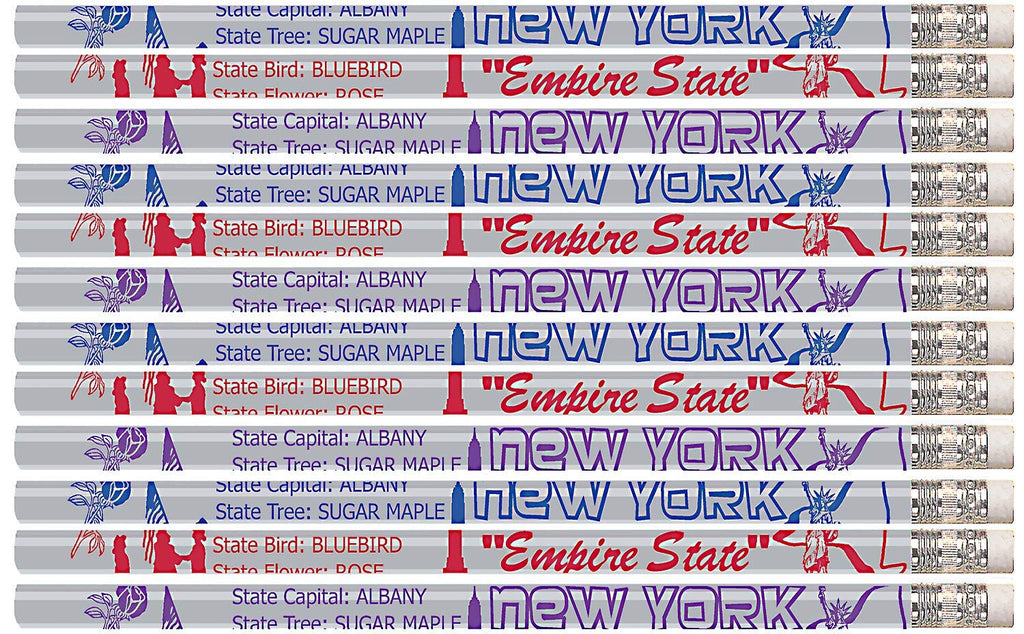 D2233 New York - 36 Qty Package - New York State Quick Facts Pencils - Express Pencils