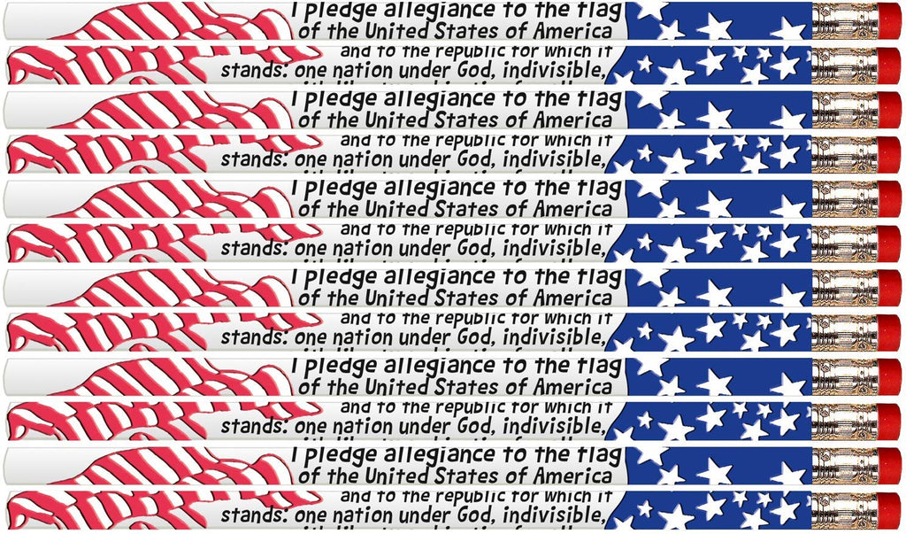 D1306 Pledge Of Allegiance - 36 Qty Package - Patriotic Pencils - Express Pencils