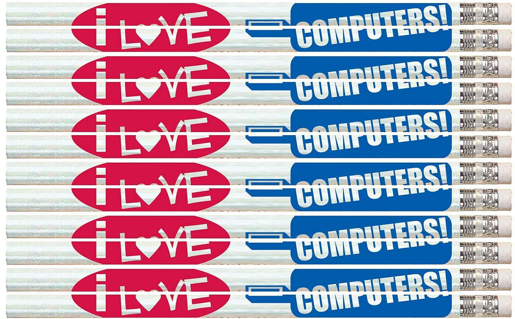 D1428 I Love Computers - 36 Qty Package - Computer Pencils - Express Pencils