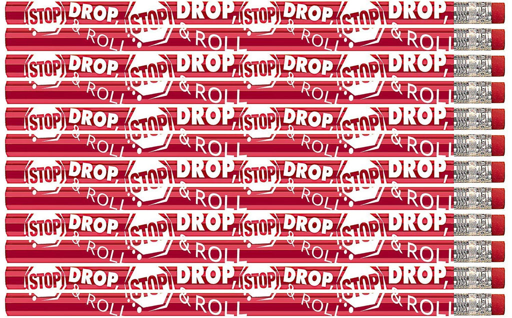 D2014 Stop Drop & Roll - 36 Qty Package - Fire Safety Pencils - Express Pencils
