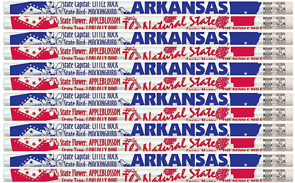 D2399 Arkansas - 36 Qty Package - Arkansas State Quick Facts Pencils - Express Pencils
