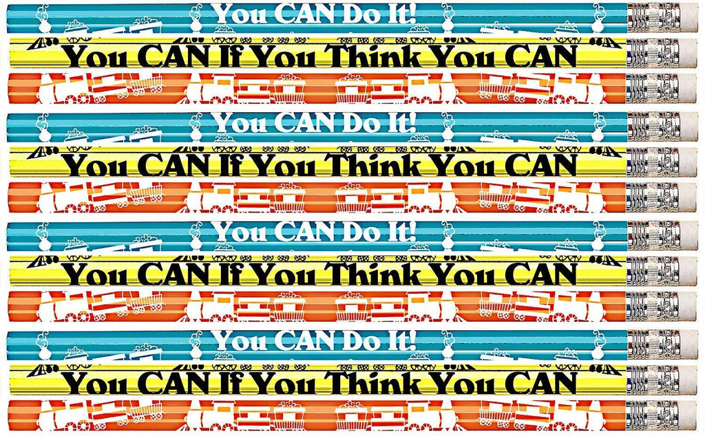 D1528 You Can If You Think You Can - 36 Qty Package - Motivational Pencils - Express Pencils