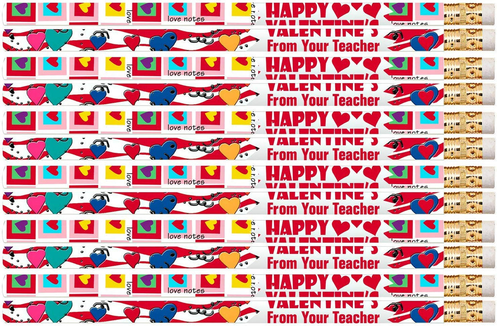 D2518 Happy Valentine's From Your Teacher - 36 Qty Package - Valentine Pencils - Express Pencils