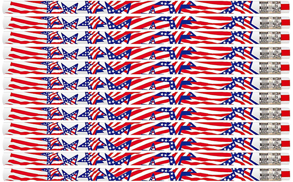 D2223 America The Beautiful - 36 Qty Package - Patriotic Pencils - Express Pencils