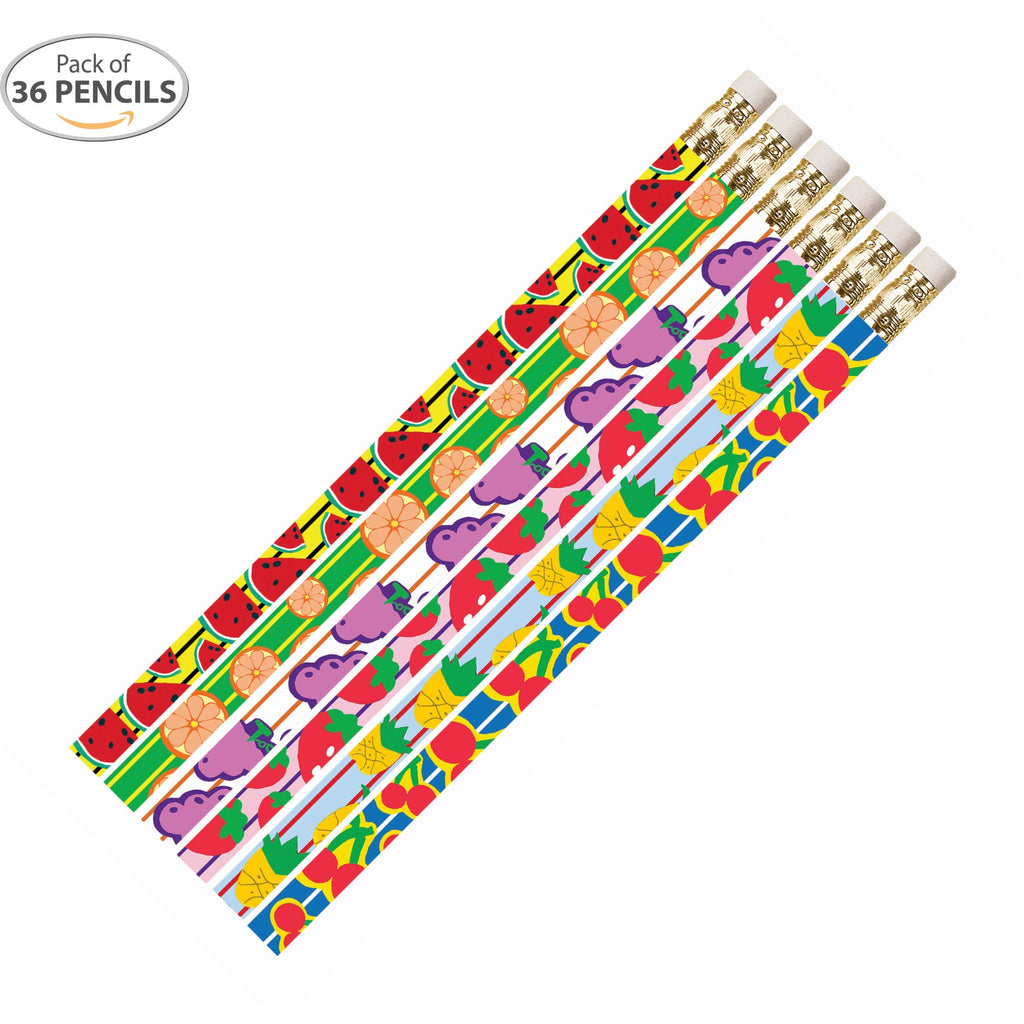D2415 Fruit Fling - 36 Qty Package - Fruit Pencils - Express Pencils