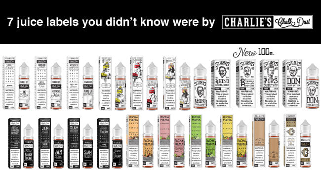 7 Charlie's Chalk Dust Vape Juice Labels