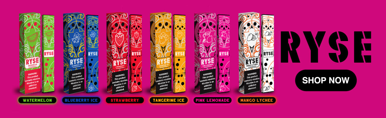 Shop online Ryse disposable puff bars. Free Shipping