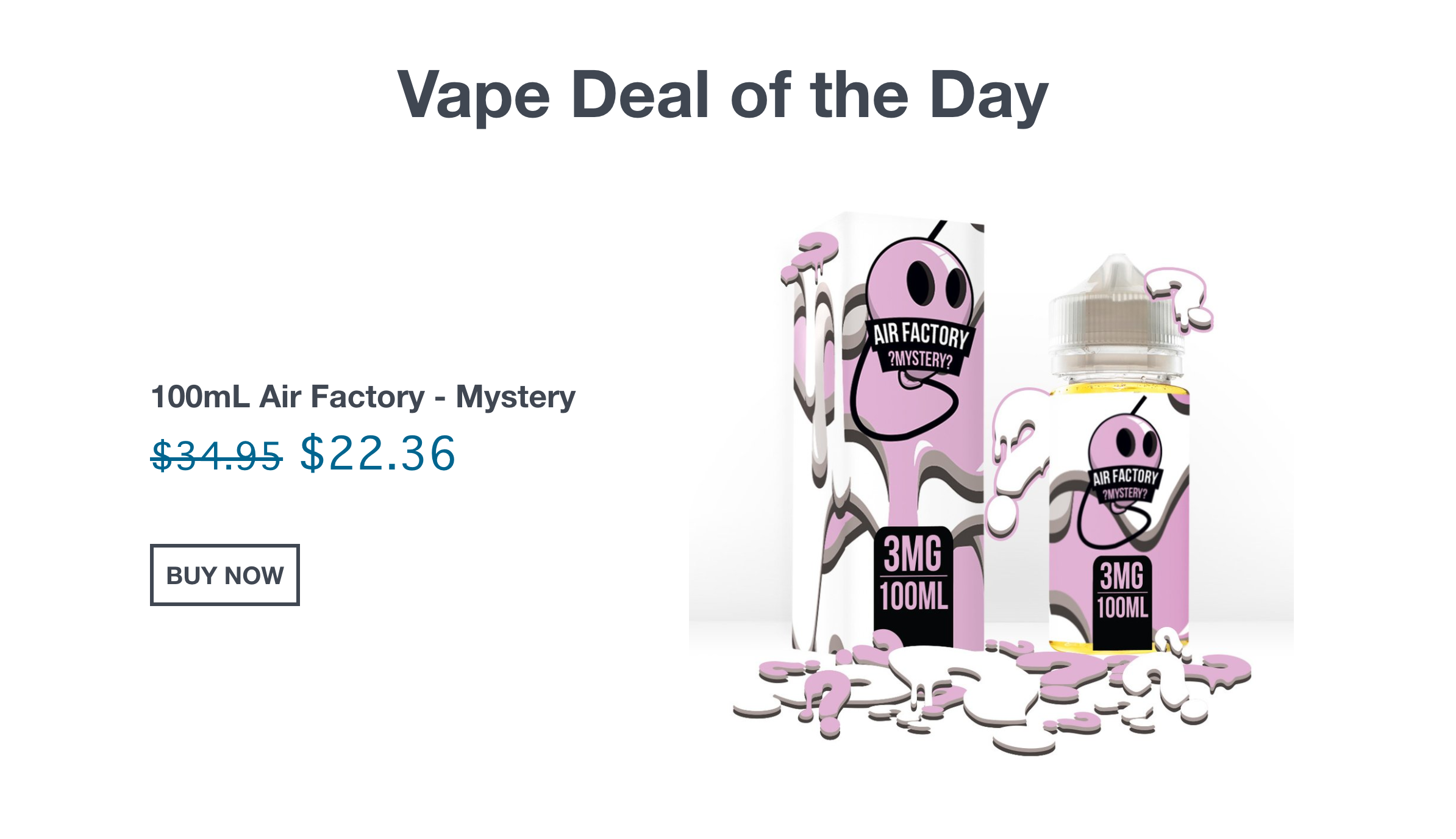 Air Factory 100mL Mystery $22.36