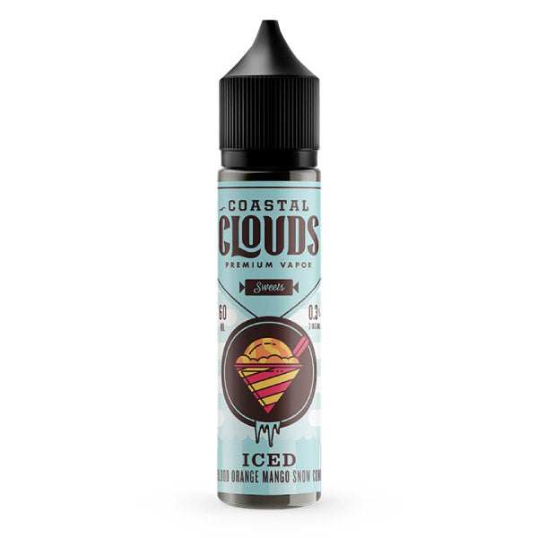 60mL - Coastal Clouds - Blood Orange Snow Cone Iced ejuice online