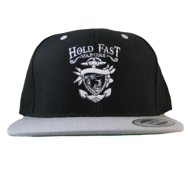Hold Fast - Label Snapback - Black/Gray