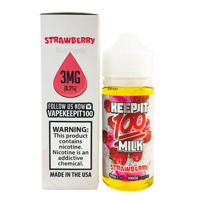 100mL - Keep it 100 - Strawberry Milk
