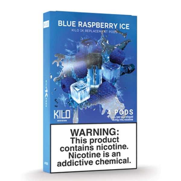 Kilo 1k Pods - Blue Raspberry Ice - 1.5ml Pods 4pk