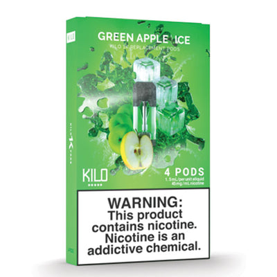 Kilo 1k Pods - Green Apple Ice - 1.5ml Pods 4pk