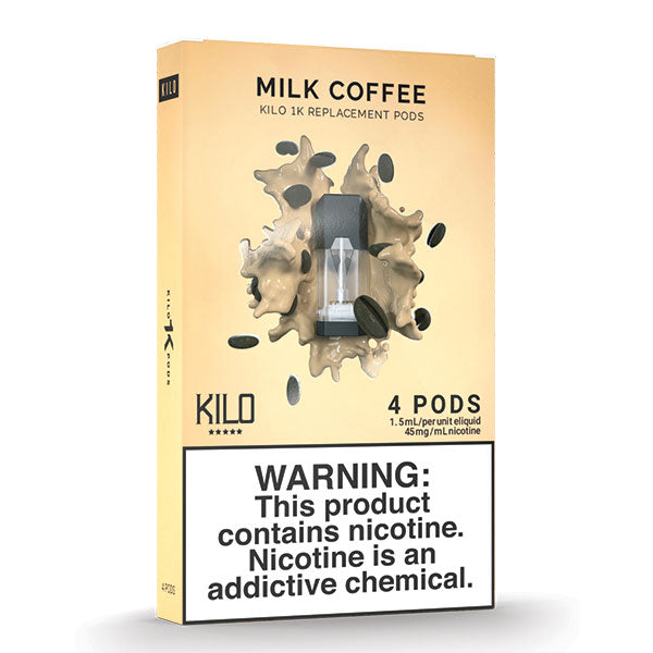 Kilo 1k Pods - Milk Coffee - 1.5ml Pods 4pk