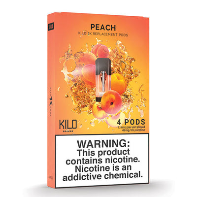 Kilo 1k Pods - Peach - 1.5ml Pods 4pk
