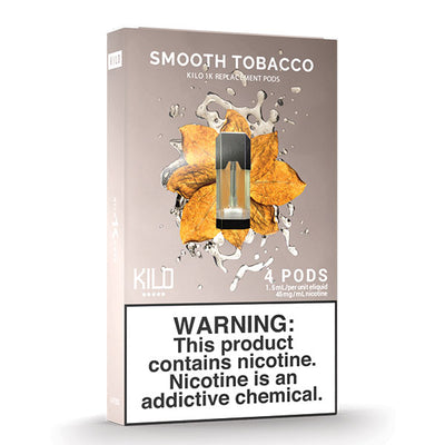 Kilo 1k Pods - Smooth Tobacco - 1.5ml Pods 4pk