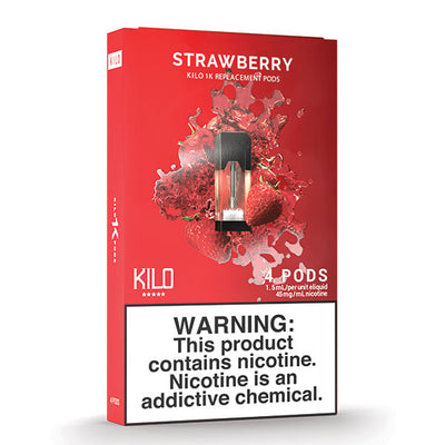 Kilo 1k Pods - Strawberry - 1.5ml Pods 4pk