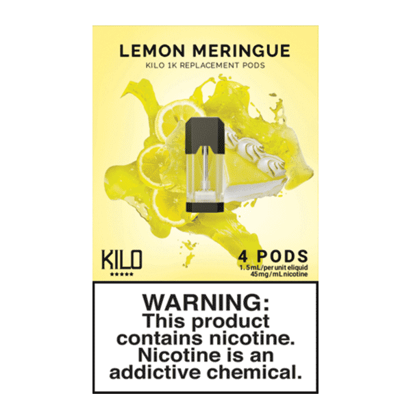 Kilo 1k Pods - Lemon Merigue - 1.5ml Pods 4pk