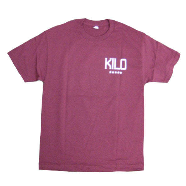 Kilo - Label T-shirt - maroon